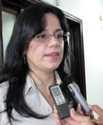 Blanca Eekhout ofrecio declaraciones a los medios presentes