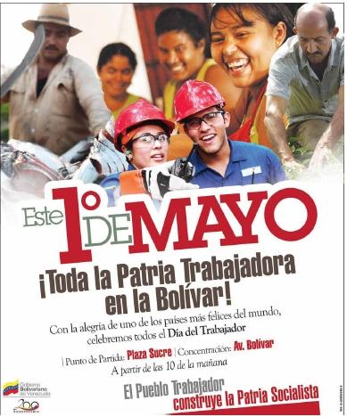 Resultado de imagen para 1DE MAYO EN VENEZUELA